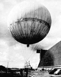 This US Navy photo shows a Japanese balloon that had failed to detonate after landing on U.S. soil and was later reinflated to better examine how it worked. Though made of paper, the balloons were surprisingly sturdy. After the war, the U.S. government relaunched a captured balloon--a balloon that had already weathered one ocean crossing--to see how far it would travel. They finally caught up with it in Africa.