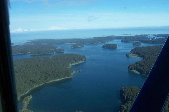 Over Shuyak Island