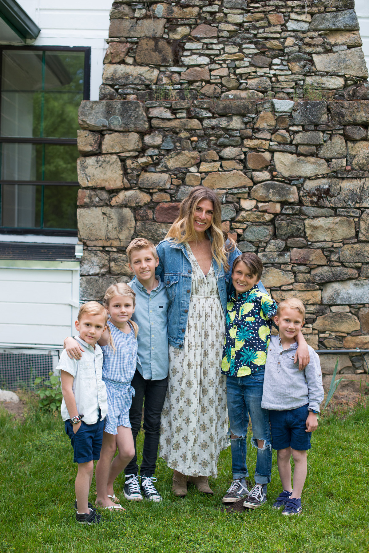 Mother's Day 2018--probably the cleanest we had been in weeks.