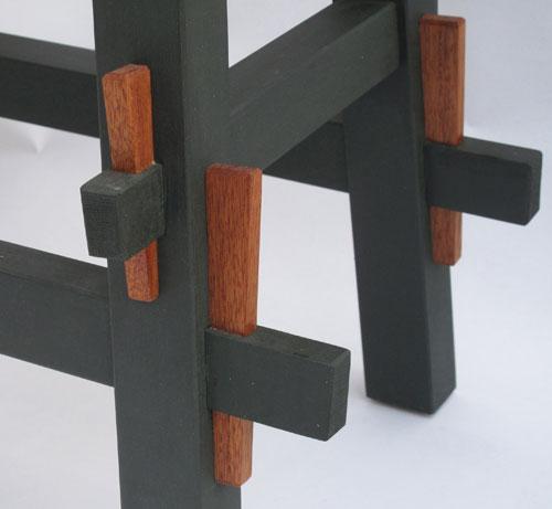Detail: keyed tenons