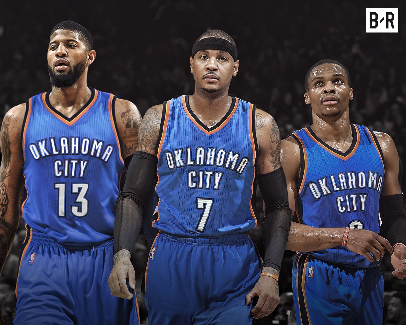 """Paul George, Carmelo Anthony, Russell Westbrook - Oklahoma City Thunder New """"Big 3"""""""