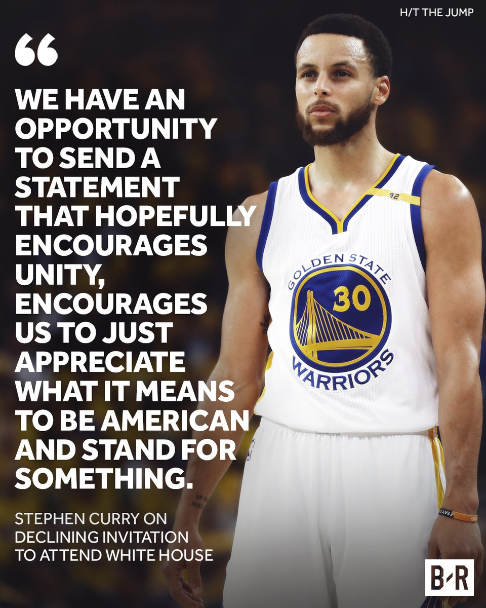Steph Curry (Golden State Warriors) quote on White House visit