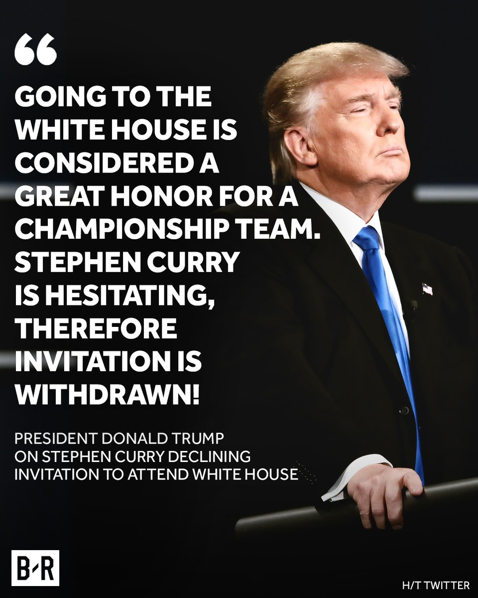 President Donald Trump on Steph Curry and Golden State Warriors White House visit
