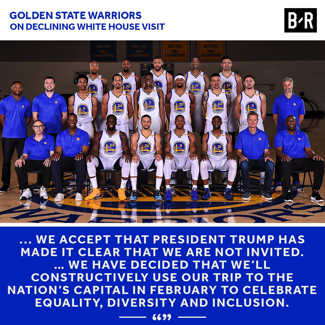 Golden State Warriors on Declining White House Visit