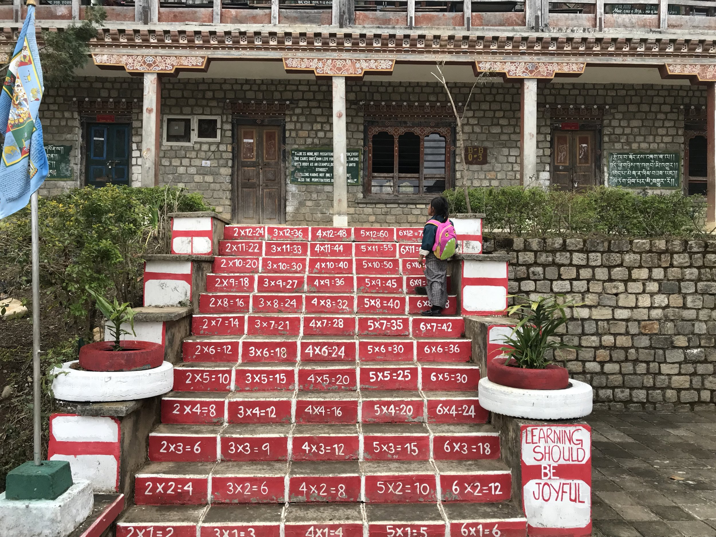 A good summary of the bifurcation of Bhutanese education: Learning Should Be Joyful, but also memorise your multiplication table