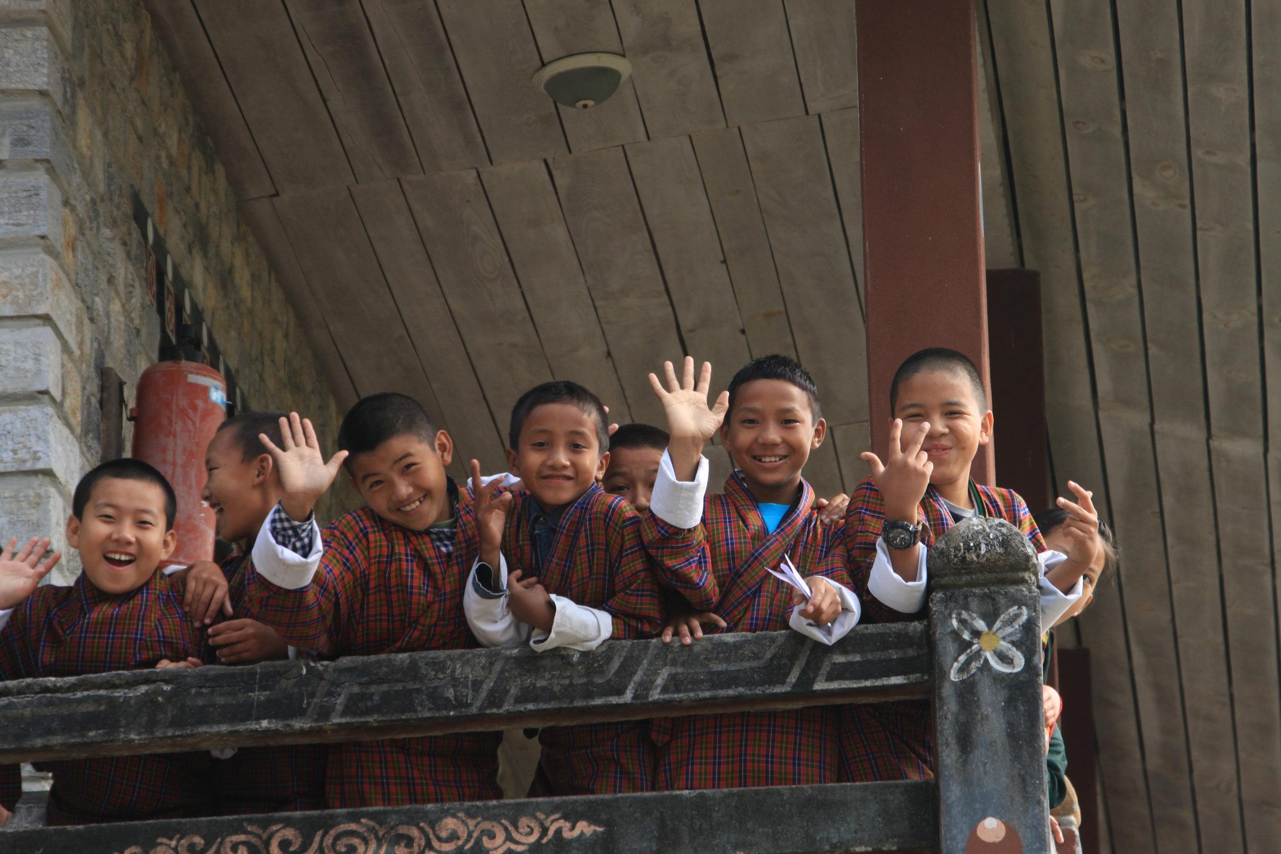 School children at a school in Bhutan