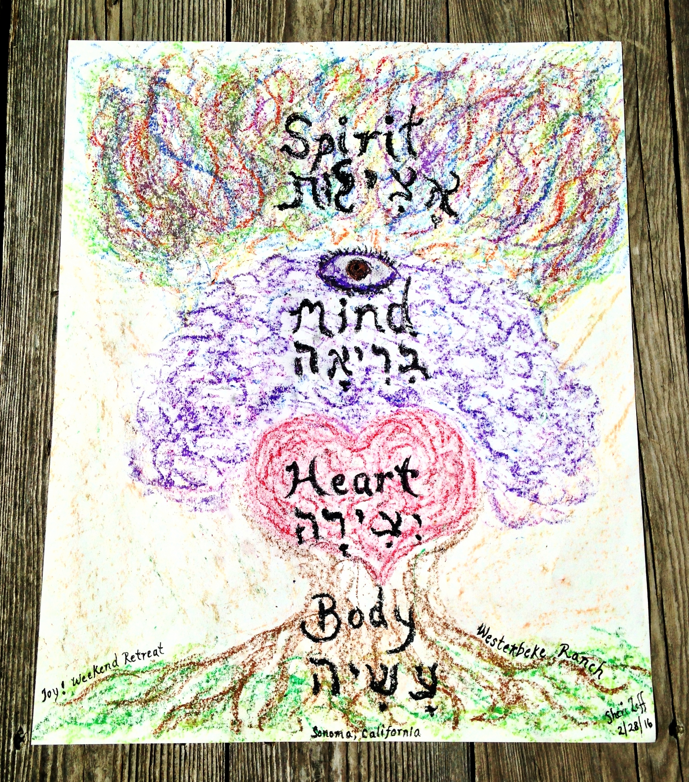Drawing Courtesy of Sheri Zeff, Women's Retreat at Westerbeke Ranch, 2016