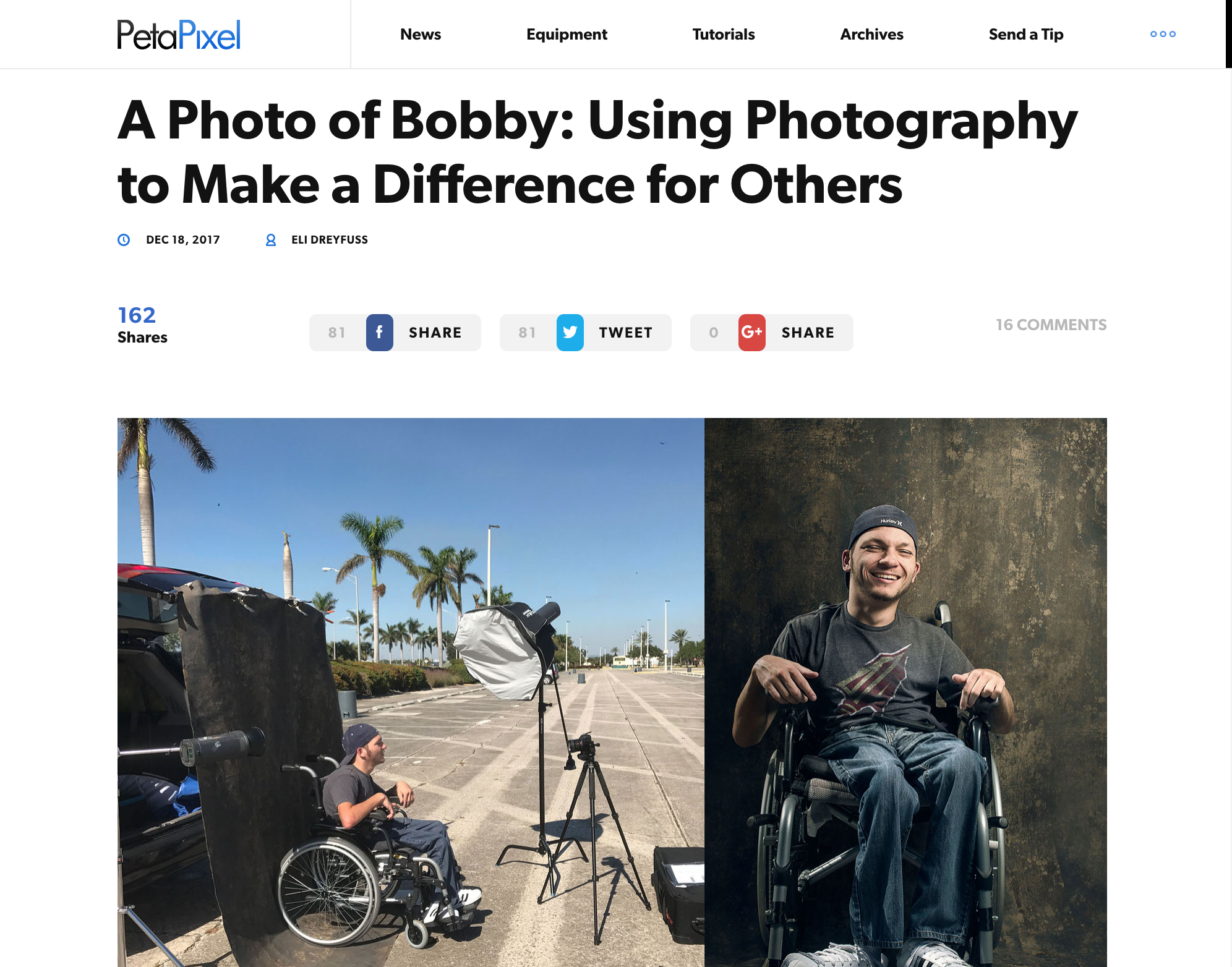 Using Photography to Make a Difference-PetaPixel Article- December 2017