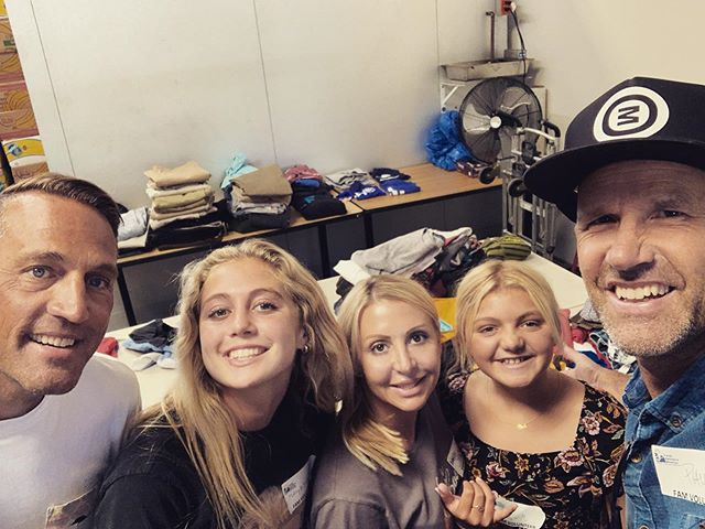 Loved serving with this fam at FAM this week. Sorting clothes for a back to school clothing give away for anyone in the community in need.