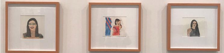 "Dawn Westover, ""Ivanka Trump"" ""Melania Trump"" and ""Tiffany Trump"", 2017, watercolor pencil on paper"