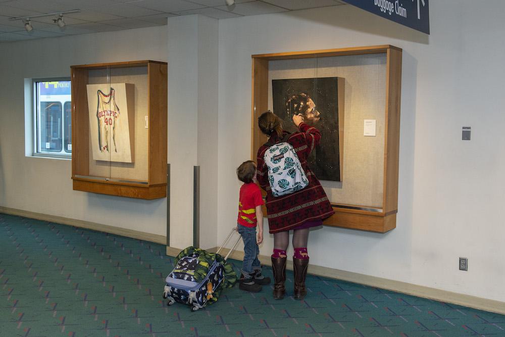 "Installation view, ""More Education,"" Jeremy Okai Davis, 2019"