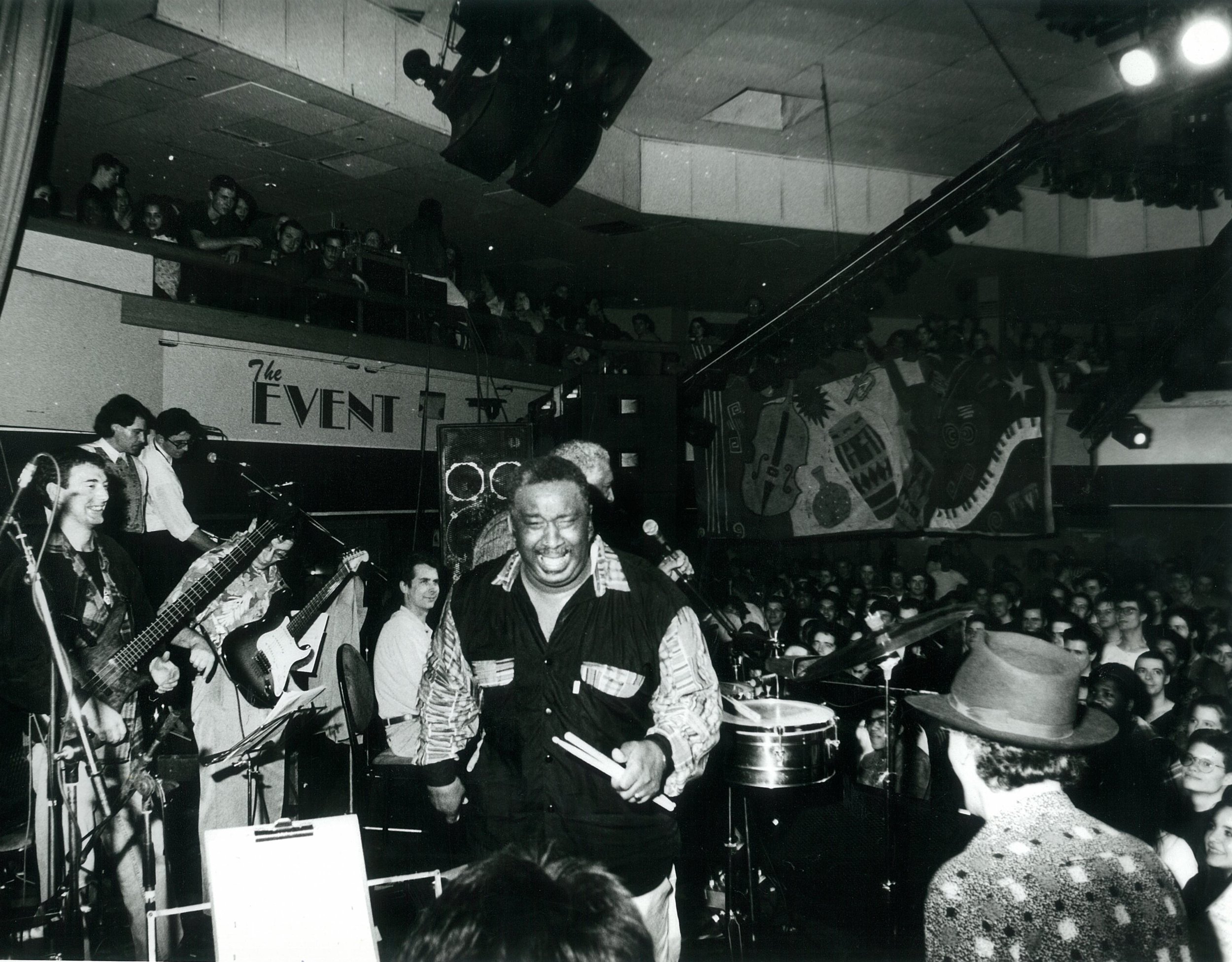 """Bernard """"Pretty"""" Purdie and Pucho and the Latin Soul Brothers rocking it at Brighton Jazz Bop 1993"""