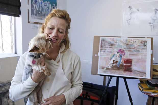 Patti's art is filled with life stories crafted as a young child traveling to distant lands with her military family. As a child she was often found with a pencil and paper in hand sketching what crossed her path. Upon high school graduation, she was awarded a scholarship to the Chicago Institute of Art. However, life's events lead her to pursue a career in Information Technology at the University of Arizona, putting her at the fore front of medical technology. Upon retirement from her career, she dove into her art with a speed and determination that would take most artists an entire lifetime.  Patti was inspired by the American West; its horses, sportsmen/women and its striking scenery. She used a loose, swift representational style, where vivid color and powerful brushstrokes capture the energy, emotion and movement of her subjects. She often used a variety of materials in addition to paint, including graphite, pastel, and colored pencil.  In 2014, Redding was awarded the NCAA Honoring Academic and Athletic Excellence Award for painting from the National Art Museum of Sport. The winning piece was later acquired by the NCAA for their collection in Indianapolis. In 2013, Redding's artwork was exhibited at the Tucson International Airport in a yearlong solo engagement highlighting 18 paintings and prints depicting 10 different sports. Redding exhibits throughout the US in juried competitions. She has been exhibiting since 2011.  Though her life was too short, her legacy will continue. An artist and Renaissance woman who saw life with wonderment… its triumphs of joy, and it's conquests of trials and tribulations. This is Patti Redding's Story.