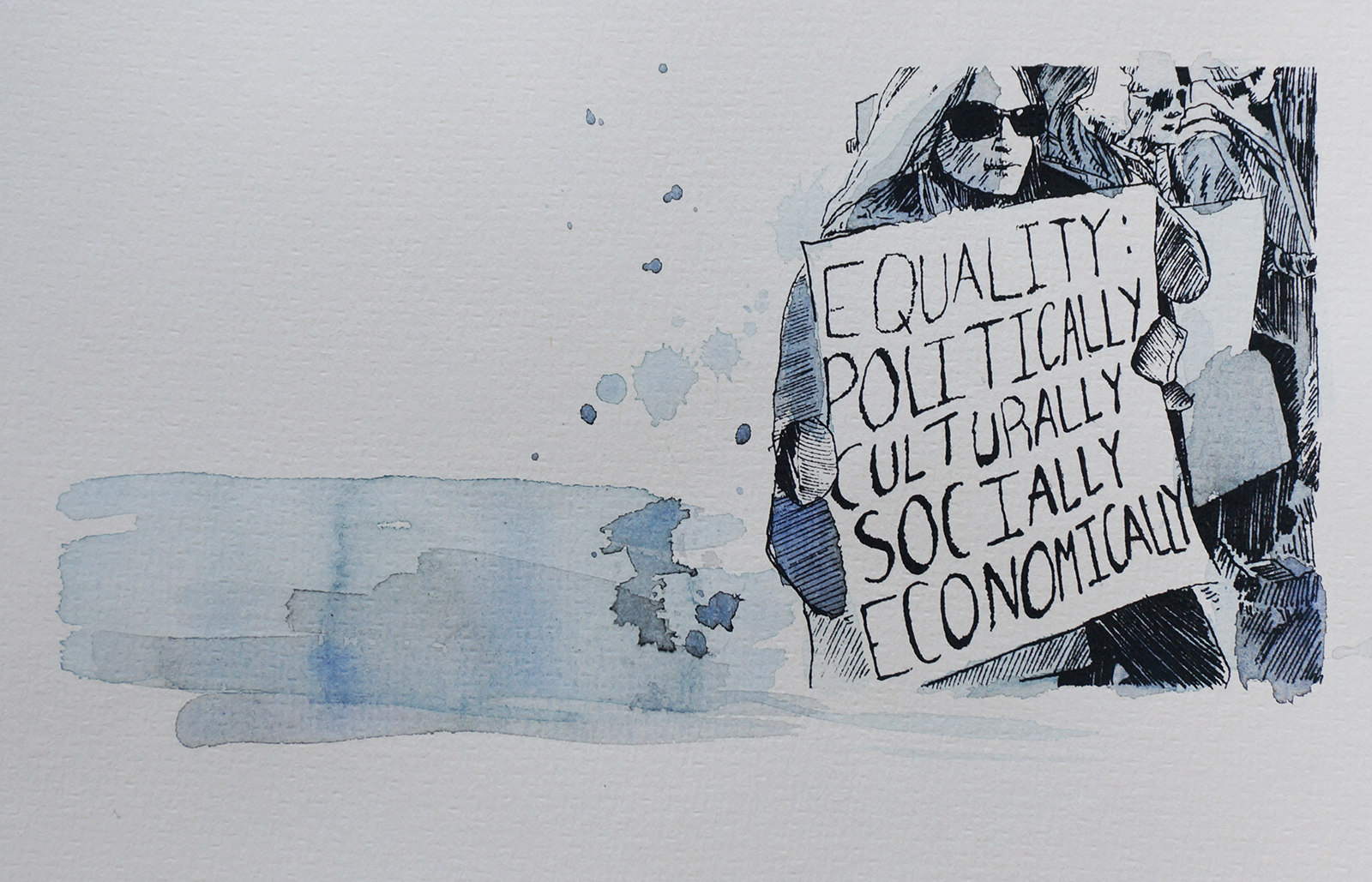 Ape_Bleakney_March Mixed Media - 'Equality (1)', 6.5''x9.5'', Screen Print + Watercolor, 2018 copy.jpg
