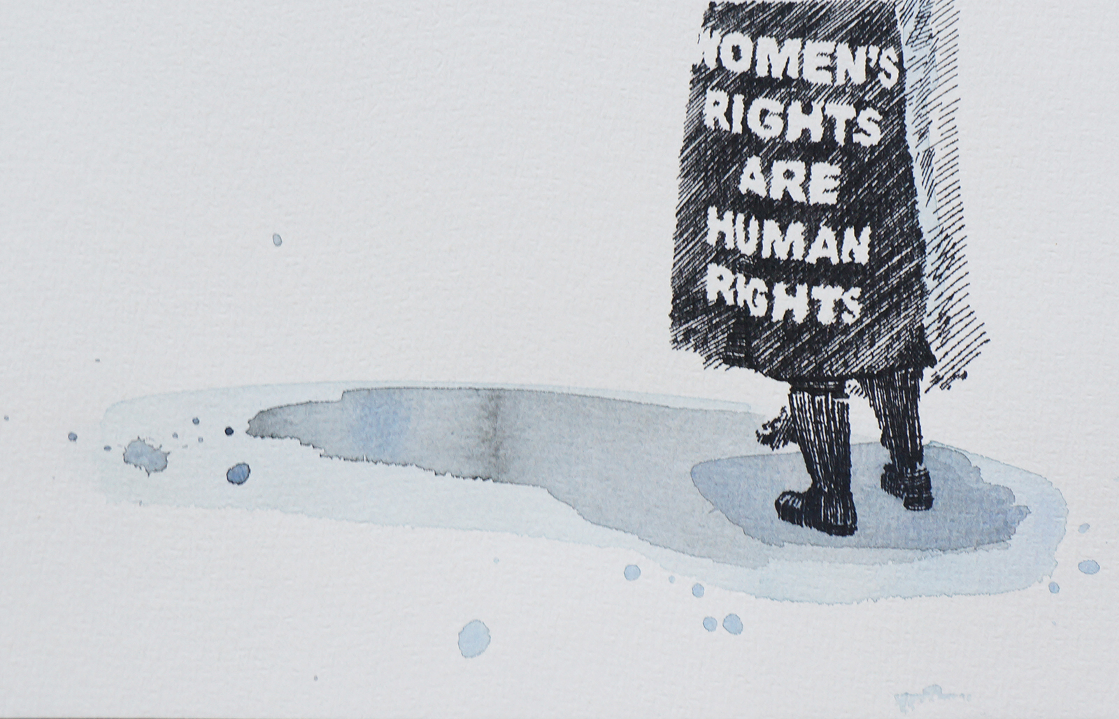 Ape_Bleakney_March Mixed Media - 'Women's Rights (2)', 6.5''x9.5'', Screen Print + Watercolor, 2018 copy.jpg