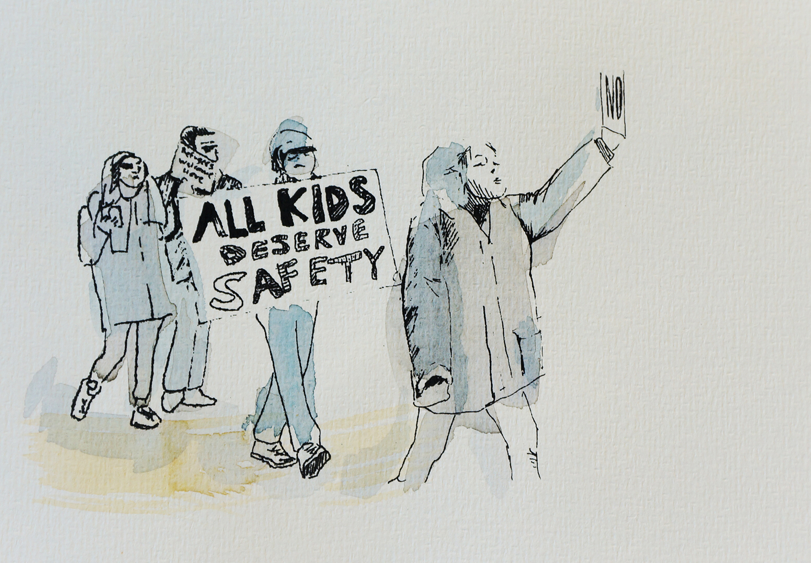 Ape_Bleakney_March Mixed Media - 'All Kids (4)', 6.5''x9.5'', Screen Print + Watercolor, 2018 copy.jpg