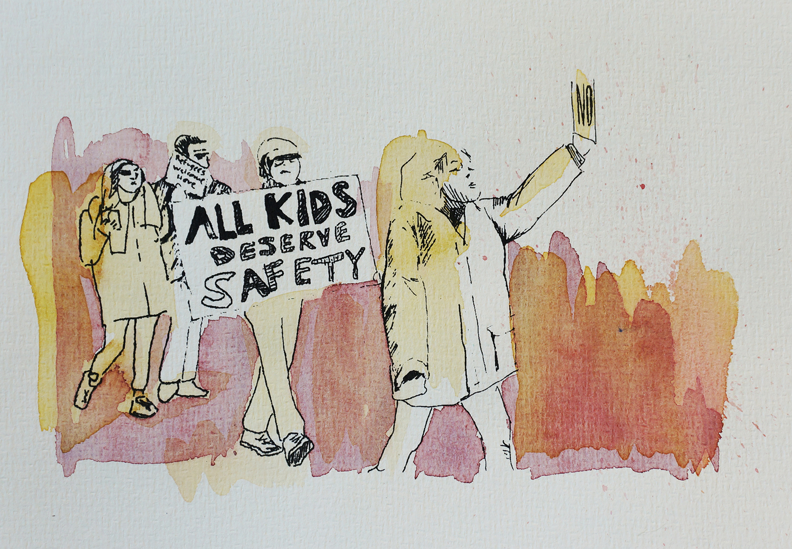 Ape_Bleakney_March Mixed Media - 'All Kids (6)', 6.5''x9.5'', Screen Print + Watercolor, 2018 copy.jpg