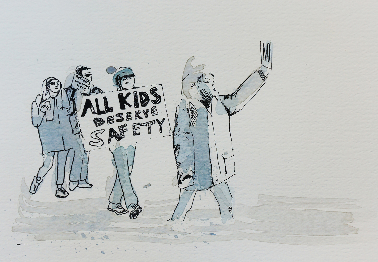 Ape_Bleakney_March Mixed Media - 'All Kids (8)', 6.5''x9.5'', Screen Print + Watercolor, 2018 copy.jpg