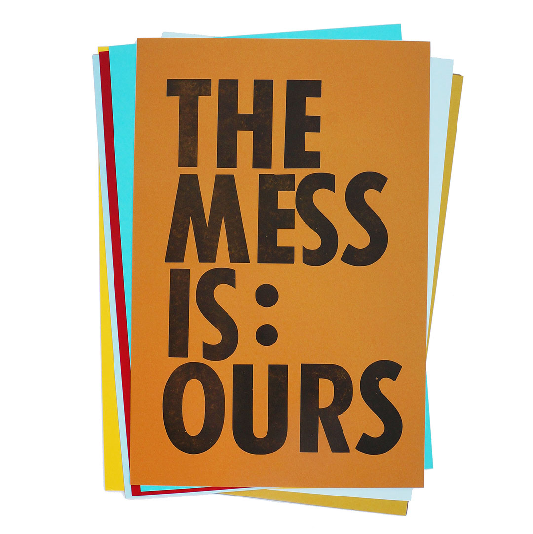 "- Here's to owning our mess:Personal / political. Individual / collective.Local / national / global. Inherited or self made.Inspired by a Noam Chomsky lecture or writing (can't remember which on exactly): but I had jotted down a note of ""no adults / mess is ours""..."
