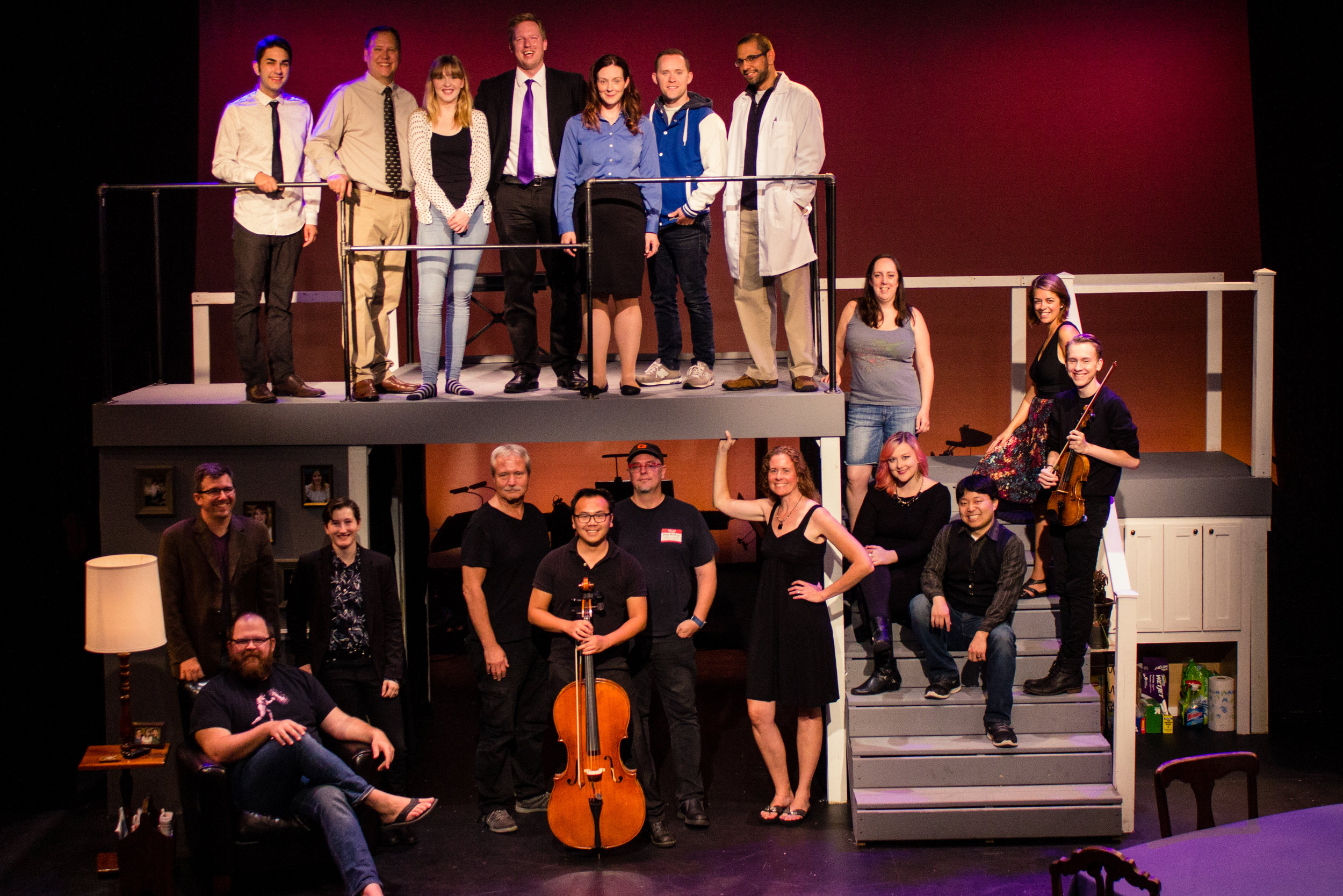 "Cast and Crew of ""Next to Normal"" (All-In Productions)"