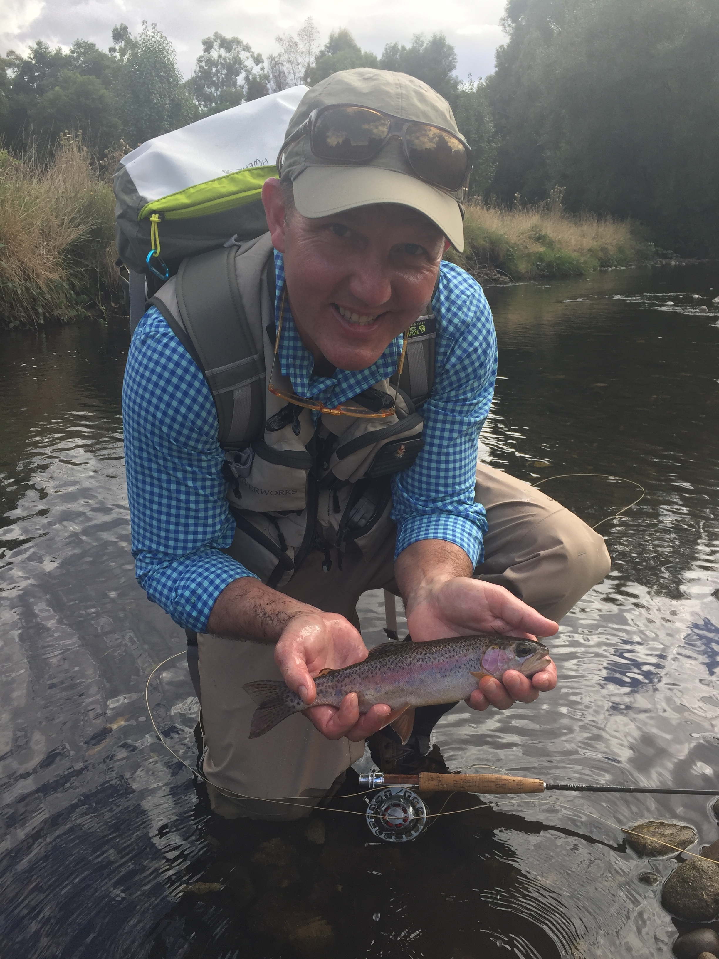 First rainbow trout of many taken on the Stevenson River.