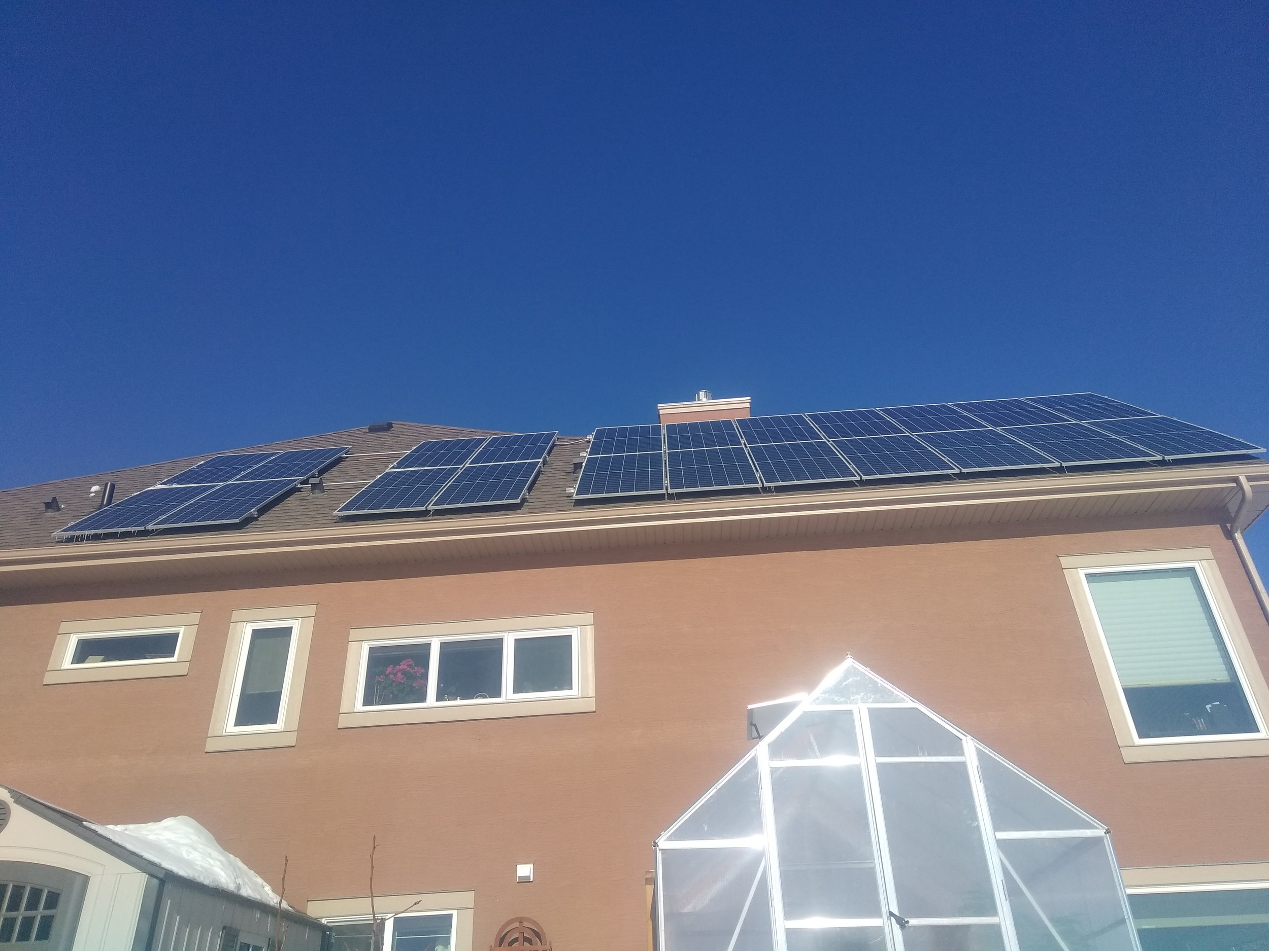 7.6 kw Chestermere solar system -