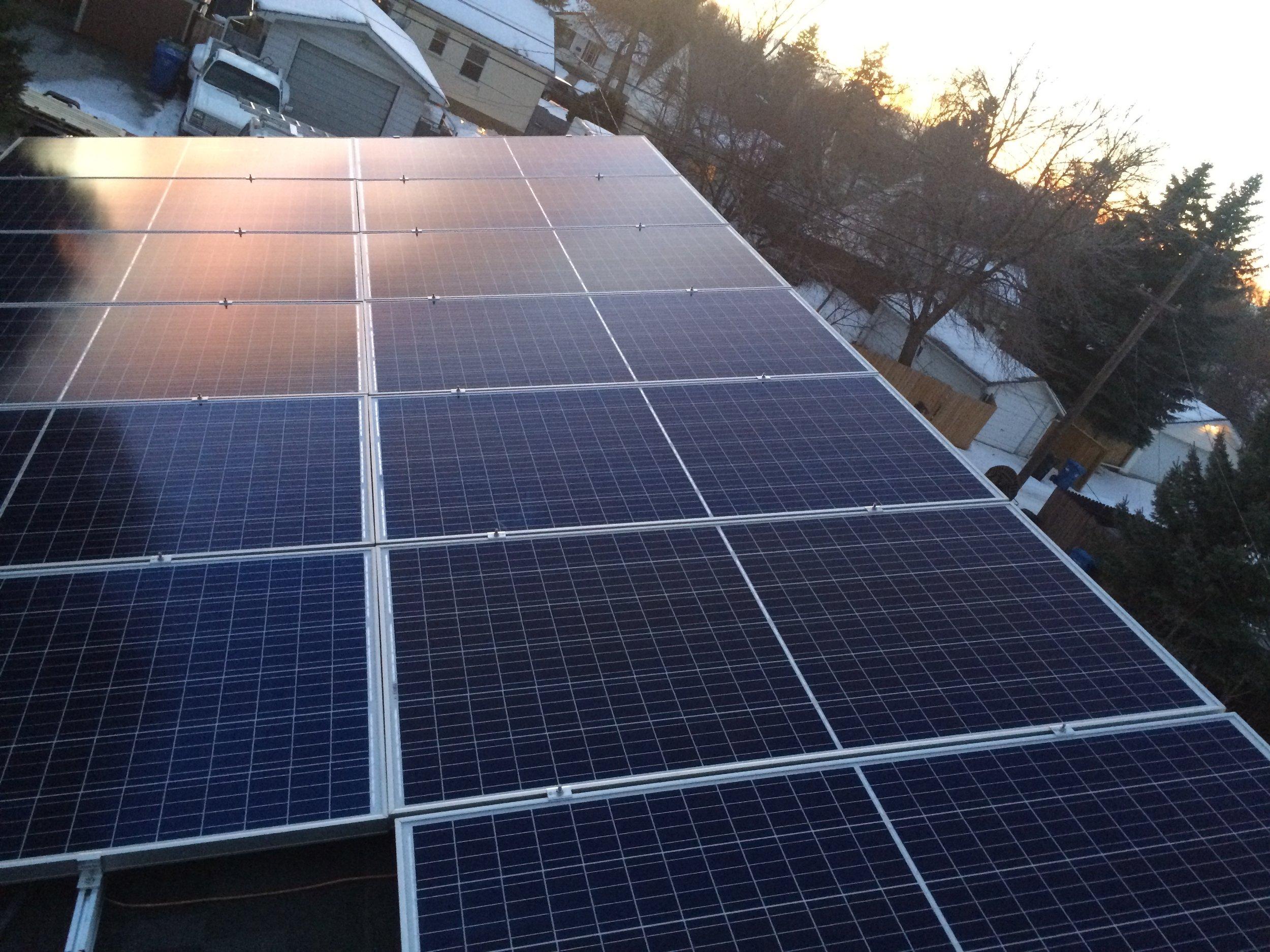 5.0 kW Calgary solar system -