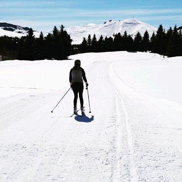 Future Olympian. #nordicskiing #idaho #sunvalley