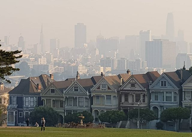 Smoky in SF today. Stay safe! #nofilter