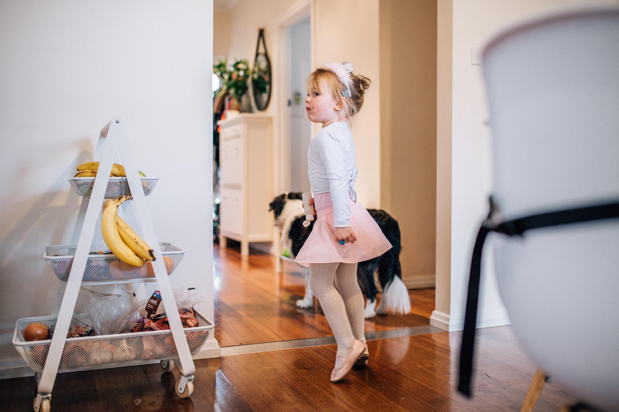 Ballerina girl inside.