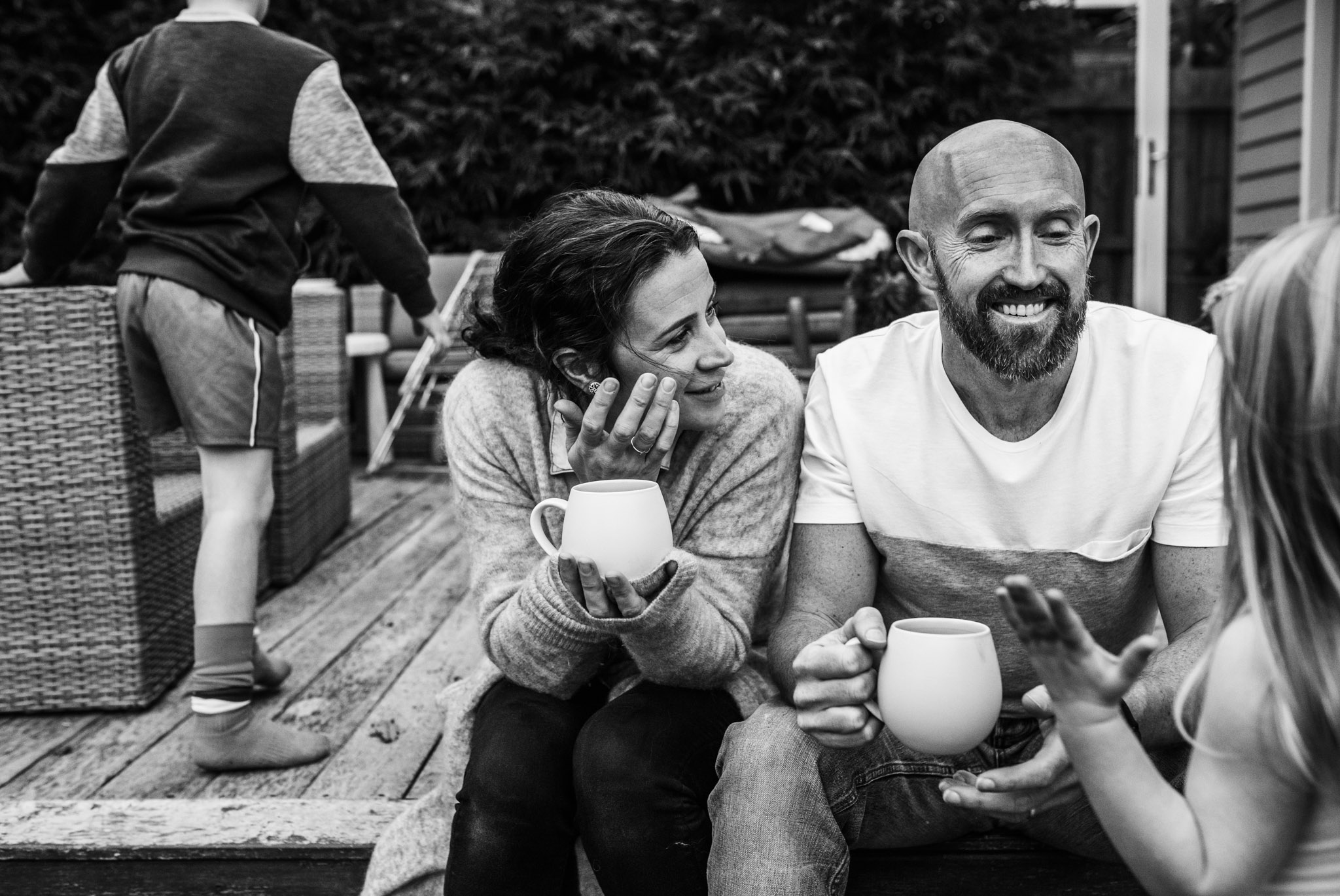parents drinking tea.