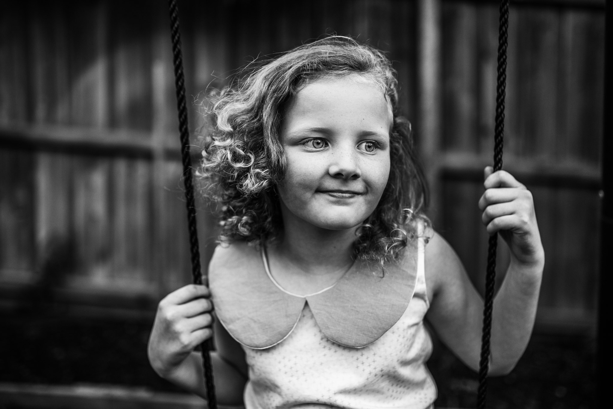 A stunning lifestyle portrait, photographed in a standard backyard in Geelong, Victoria