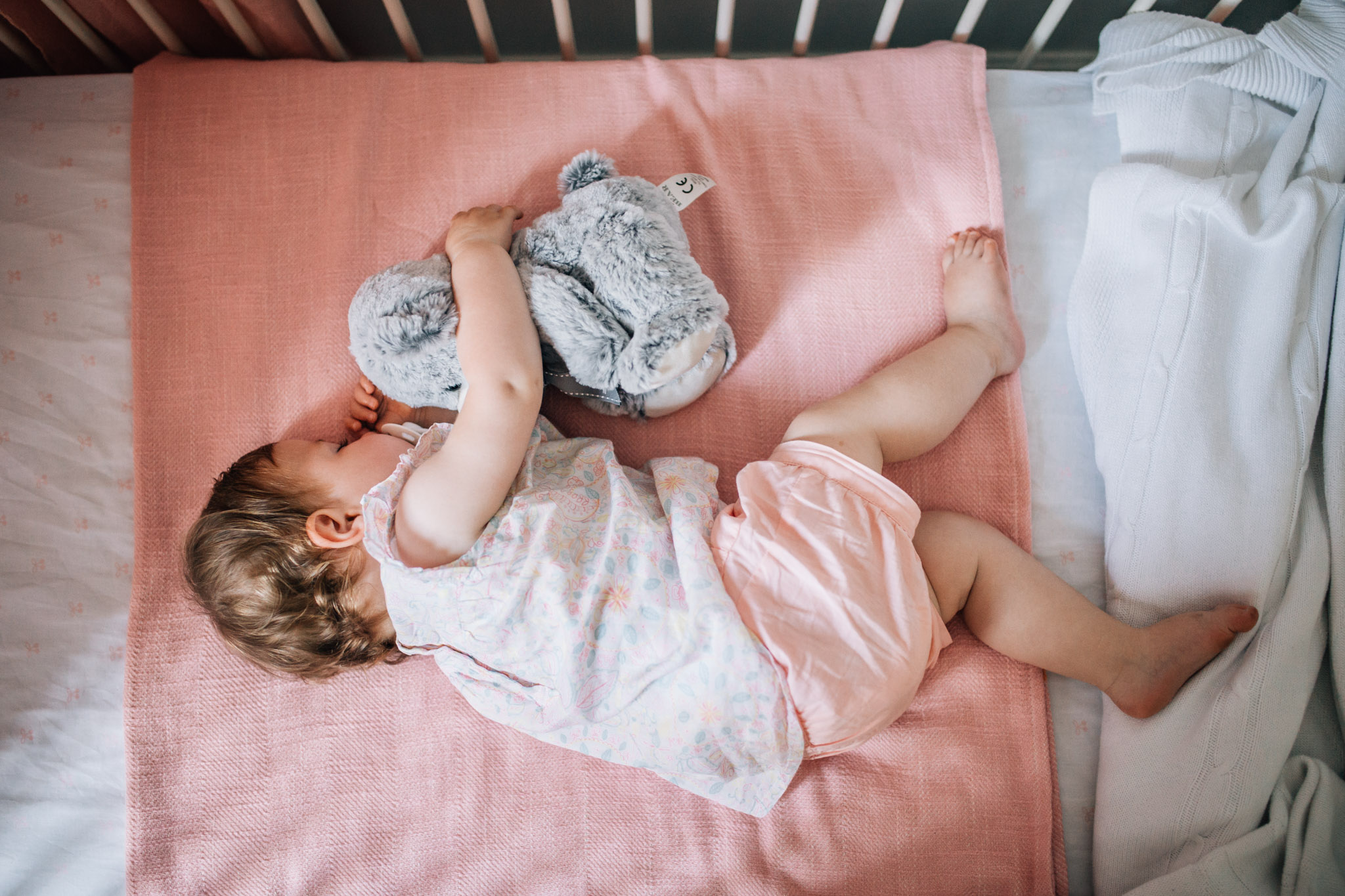 This little miss wont always need a morning nap. Now they'll always remember how sweet she looked snuggled up with her lovey in the first room she ever had.
