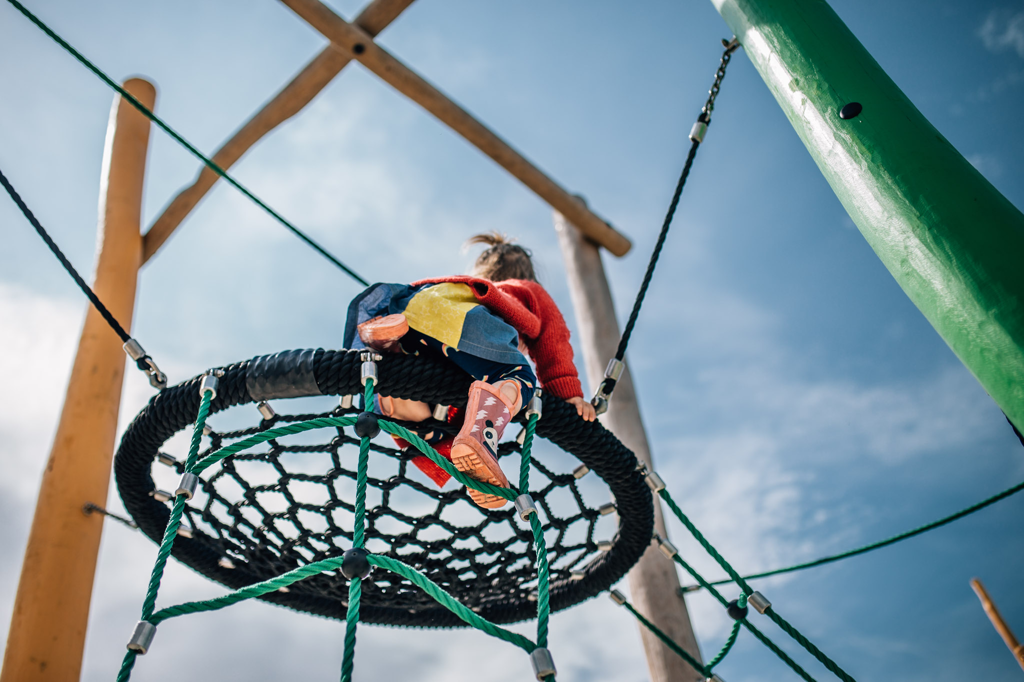 The Warralily Blvd playground boasts a climbing frame reminiscent of your best treehouse childhood fantasies.