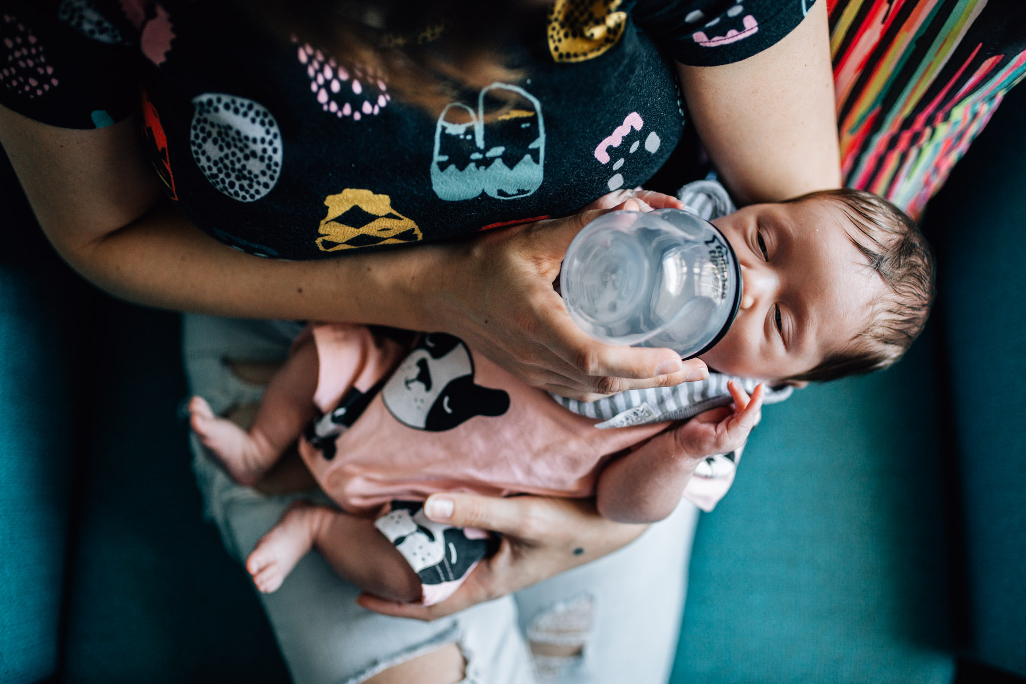newborn being fed bottle by mother (1 of 1).jpg