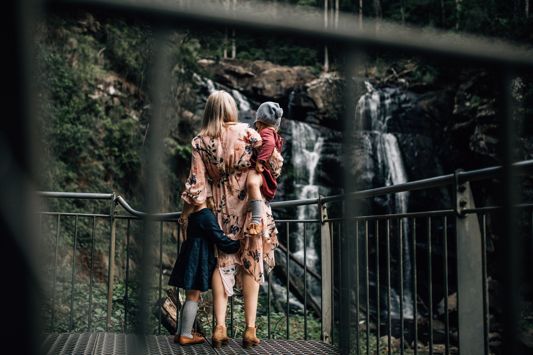 little-girls-with-mother-gazing-at-water-fall (1 of 1).jpg