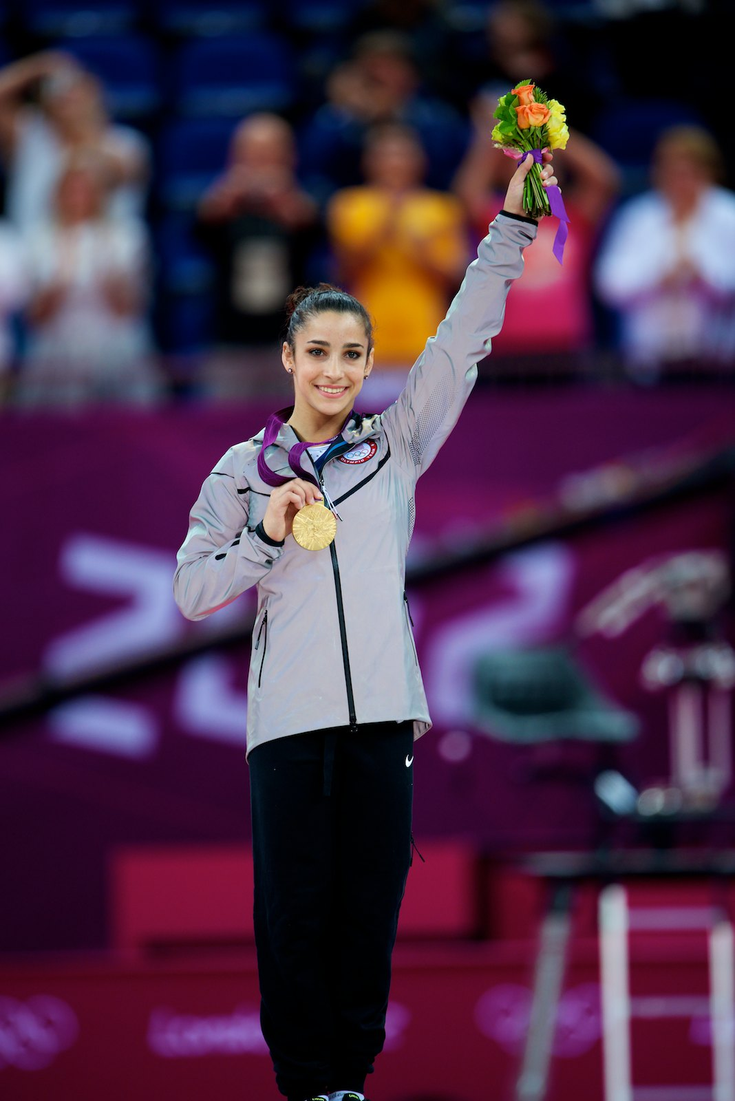 Aly Raisman - Member of the 2017 USA Gymnastics Hall of Fame class with the Final Five.2016 Olympic Games, Rio de Janeiro, Brazil - 1st-Team; 2nd-AA, FX2015 World Championships, Glasgow, Great Britain - 1st-Team2012 Olympic Games, London, England - 1st-Team, FX; 3rd-BB; 4th-AA2012 AT&T American Cup, New York, N.Y. - 2nd-AA2011 World Championships, Tokyo, Japan - 1st-Team; 3rd-FX; 4th-AA, BB2011 AT&T American Cup, Jacksonville, Fla. - 3rd-AA2010 World Championships, Rotterdam, Netherlands - 2nd-Team; 4th-FX2010 Pacific Rim Championships, Melbourne, Australia - 1st-Team; 2nd-AA, BB, FX; 7th-UB2010 Tyson American Cup, Worcester, Mass. - 2nd-AA2009 Junior Pan American Championships, Aracaju, Brazil - 1st-Team, VT, FX; 3rd-AA