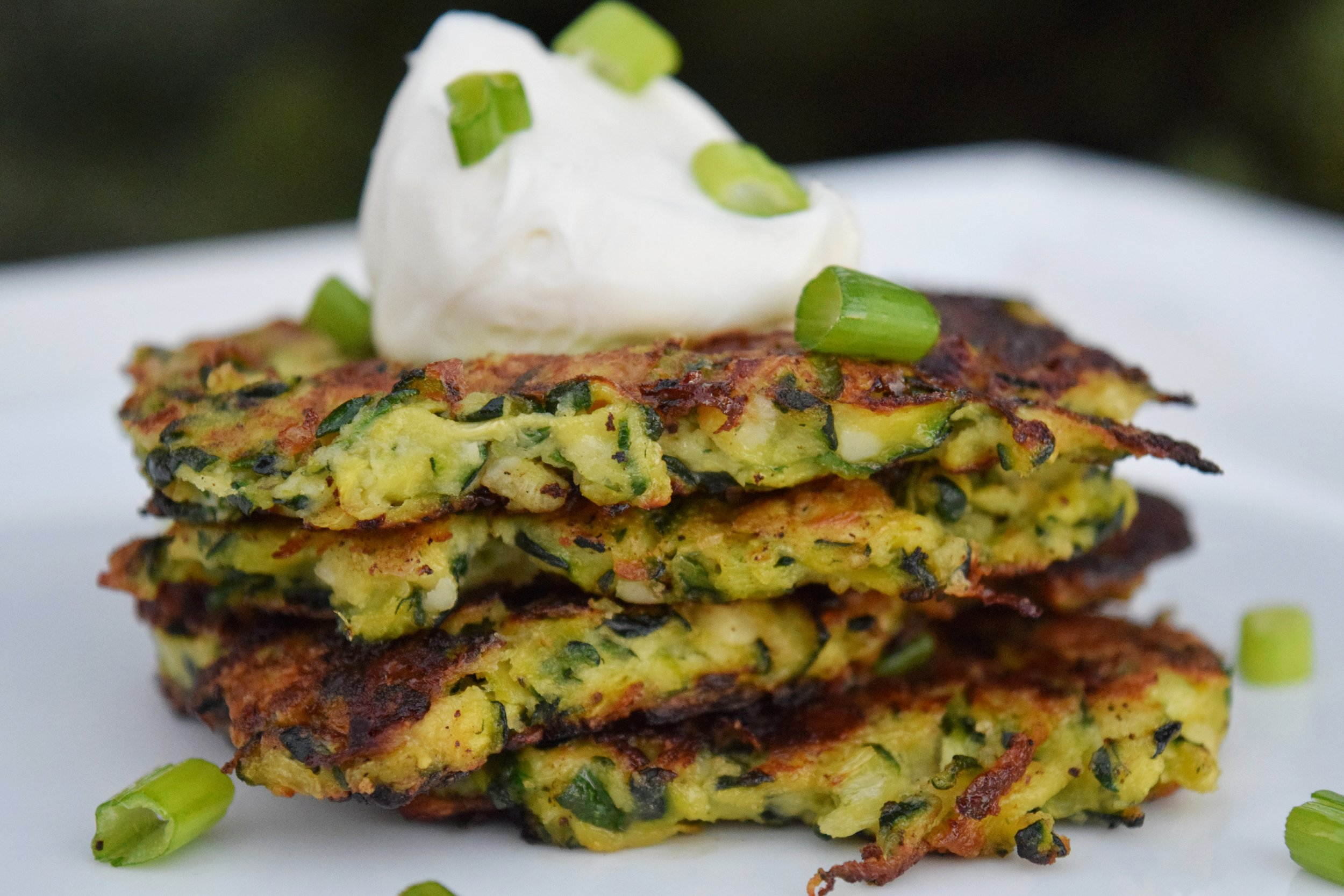Pan Fried Zucchini Fritters