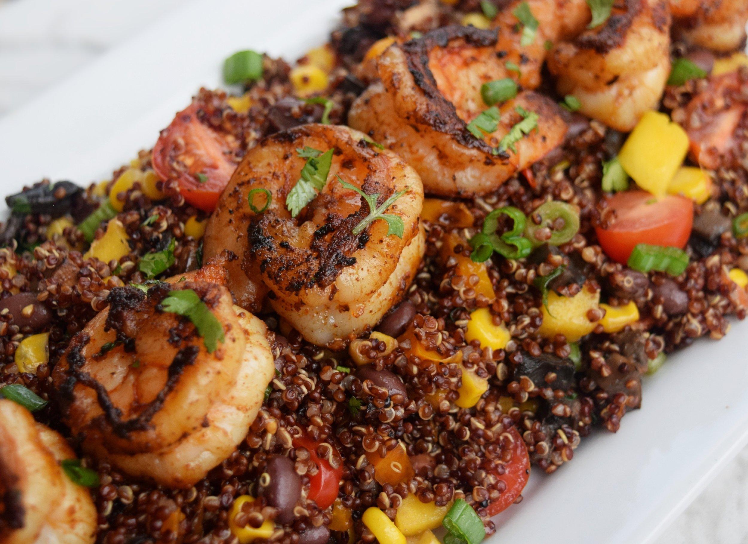 Cajun Shrimp & Mexican Veggie Quinoa