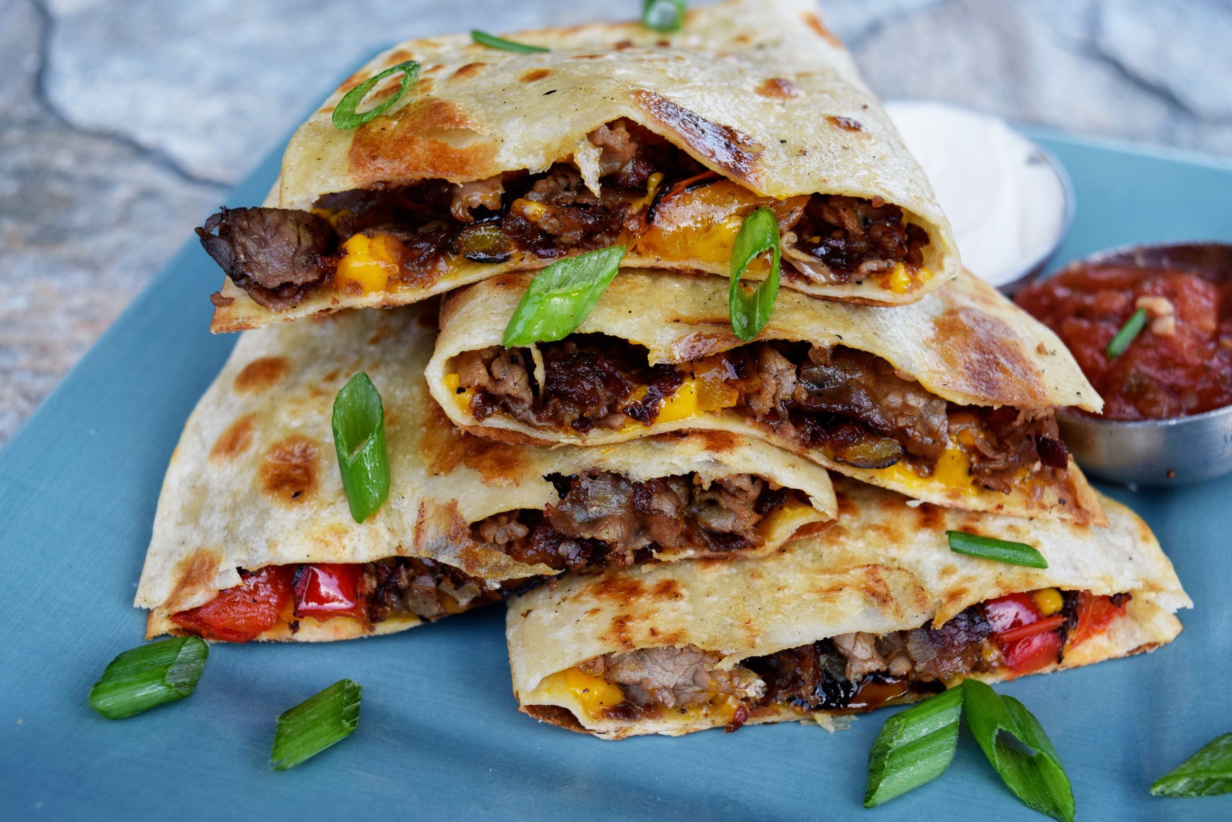 Cheesesteak Quesadillas