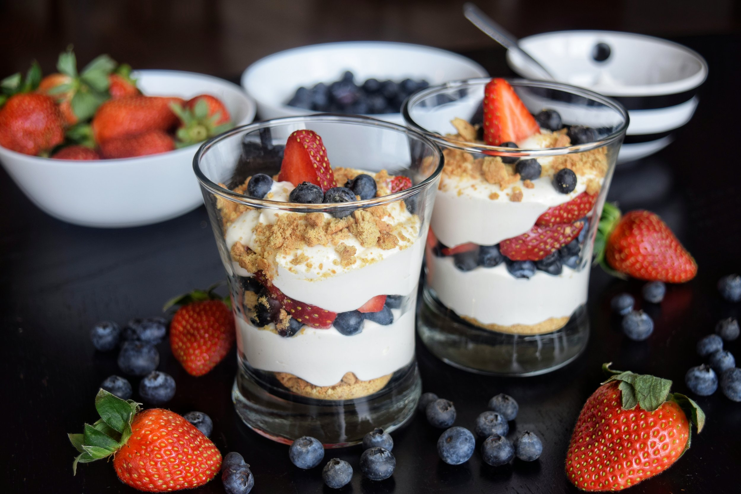 No Bake Cheesecake Parfaits