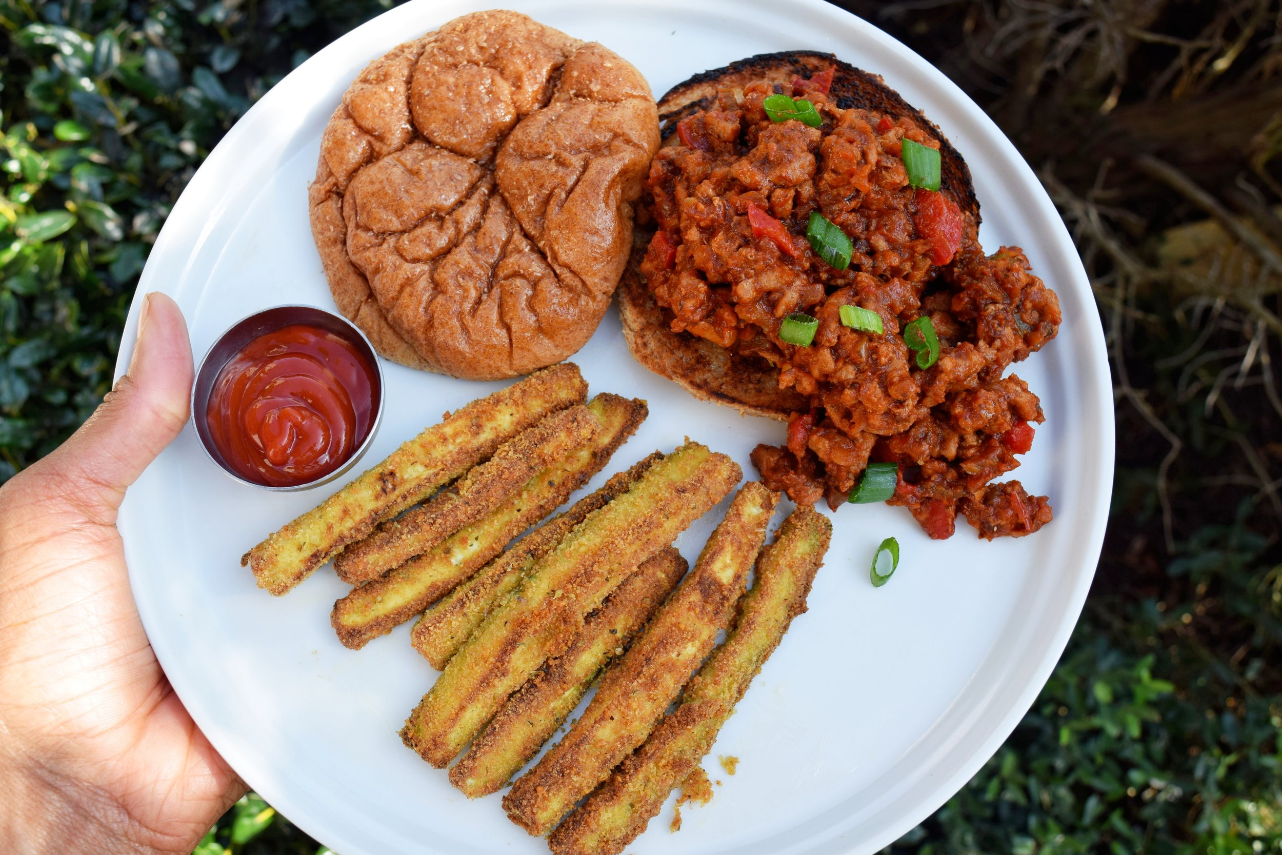 Turkey Sloppy Joes + Air Fryer Parmesan Zucchini Fries