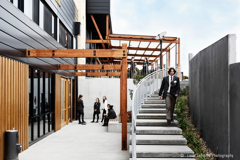 Champagnat adds a new chapter to the story of Marist College Bendigo, creating high-quality environments for senior learners. The centre is designed to nurture independence and student ownership over learning, aligning the physical environment with the school's learning approach.