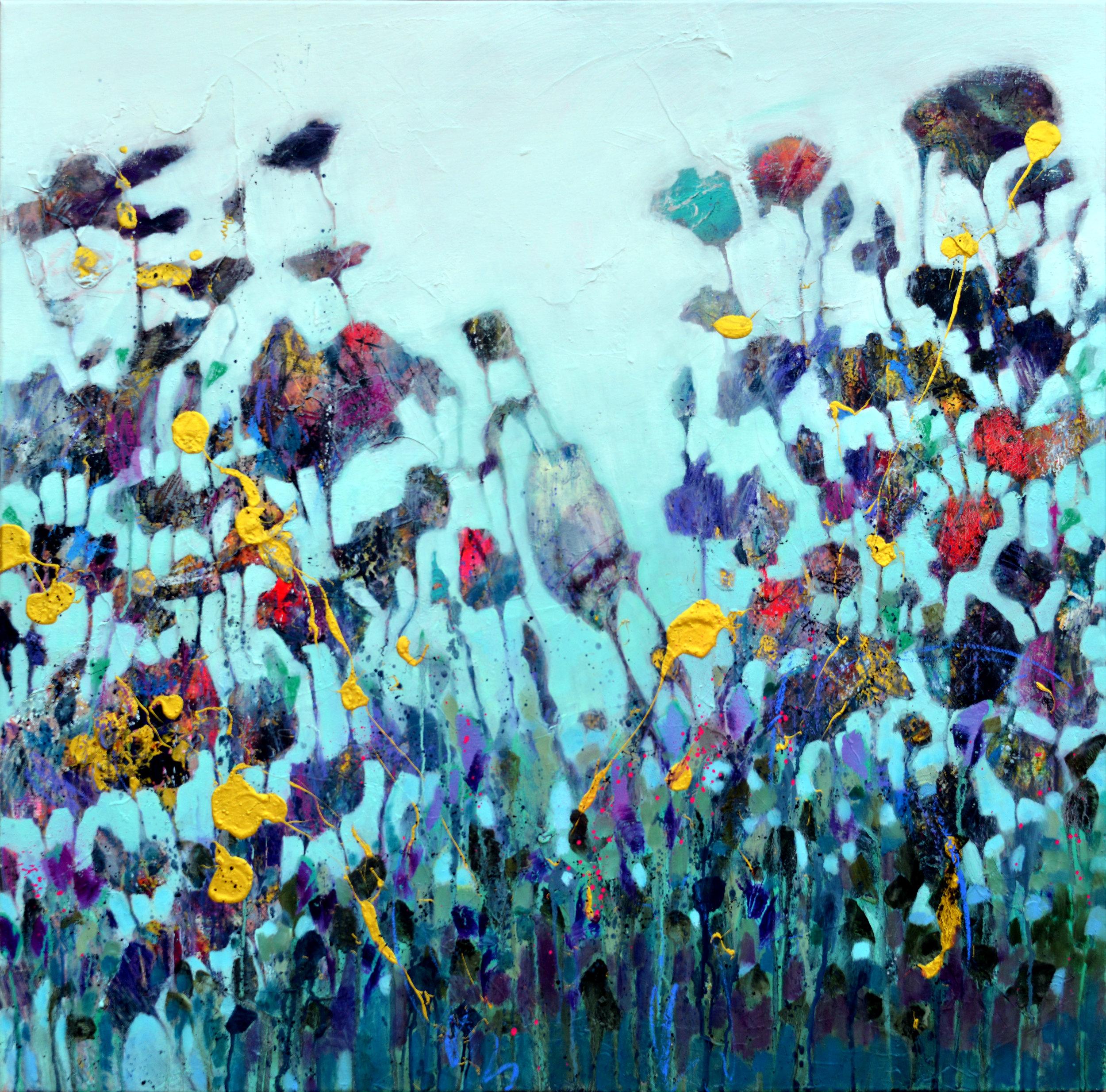 Untitled | Areej Rajab | 100x100 cm mixed media on canvas | BHD750 .JPG