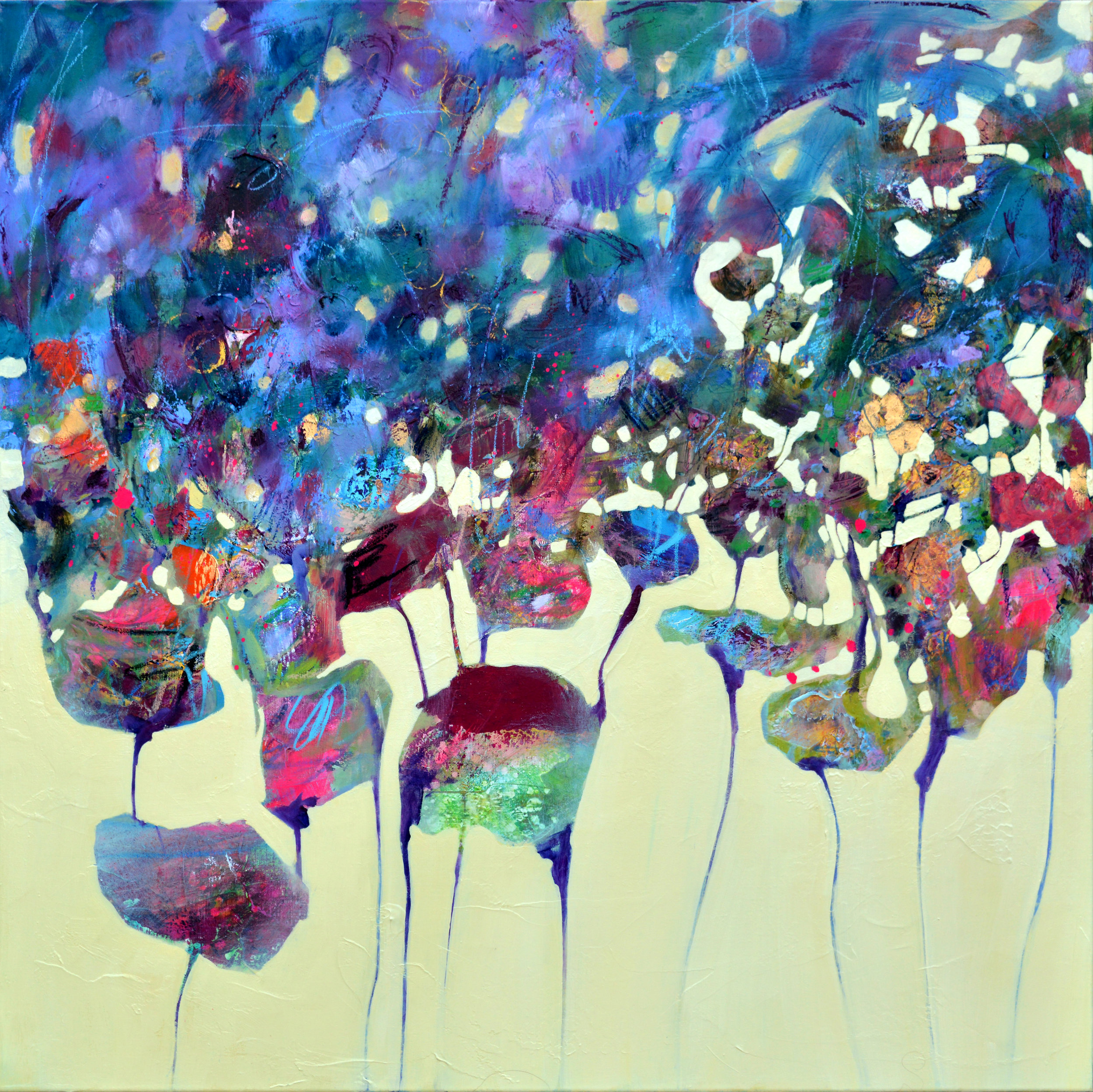 Untitled | Areej Rajab | 100x100 cm mixed media on canvas | BHD750.JPG