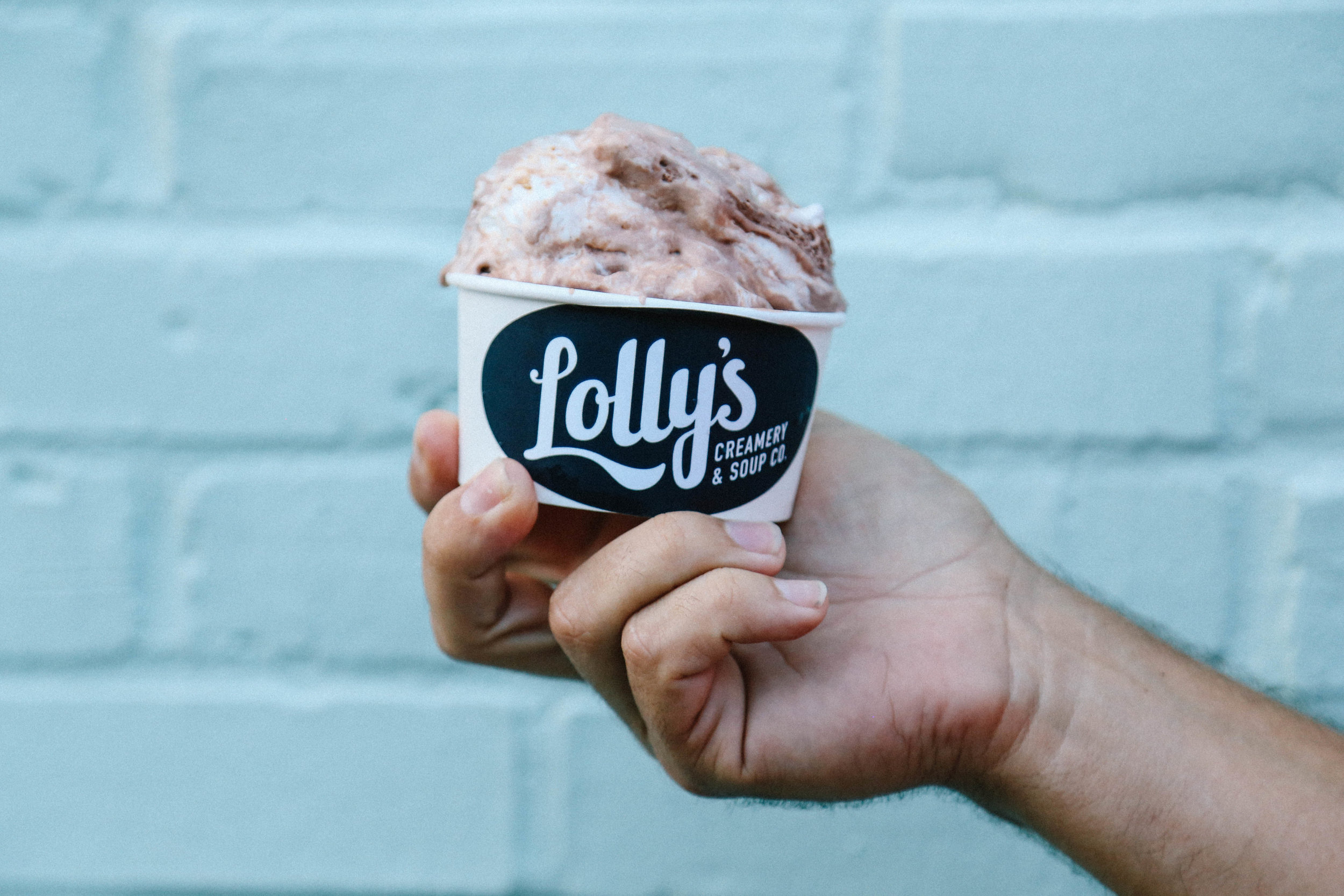 Each week we will typically feature… - - cookie monster - mint chocolate chip- chocolate - vanilla- strawberry - a non-dairy sorbet- two original craft ice cream flavors