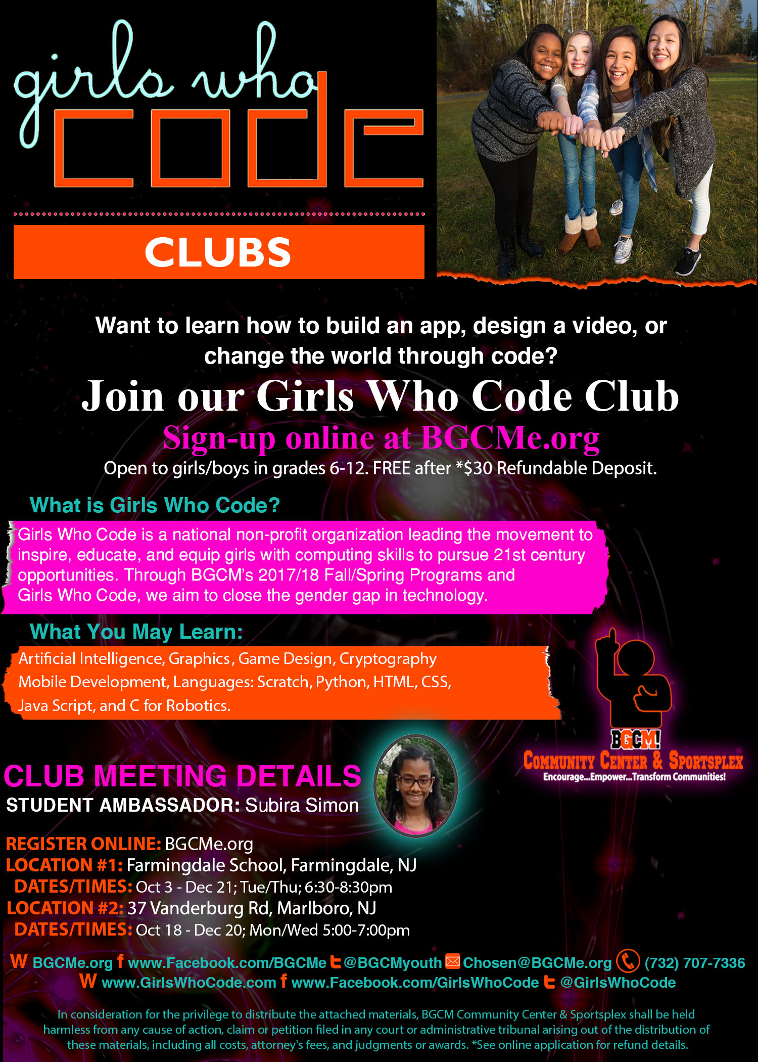 Girls Who Code Flyer