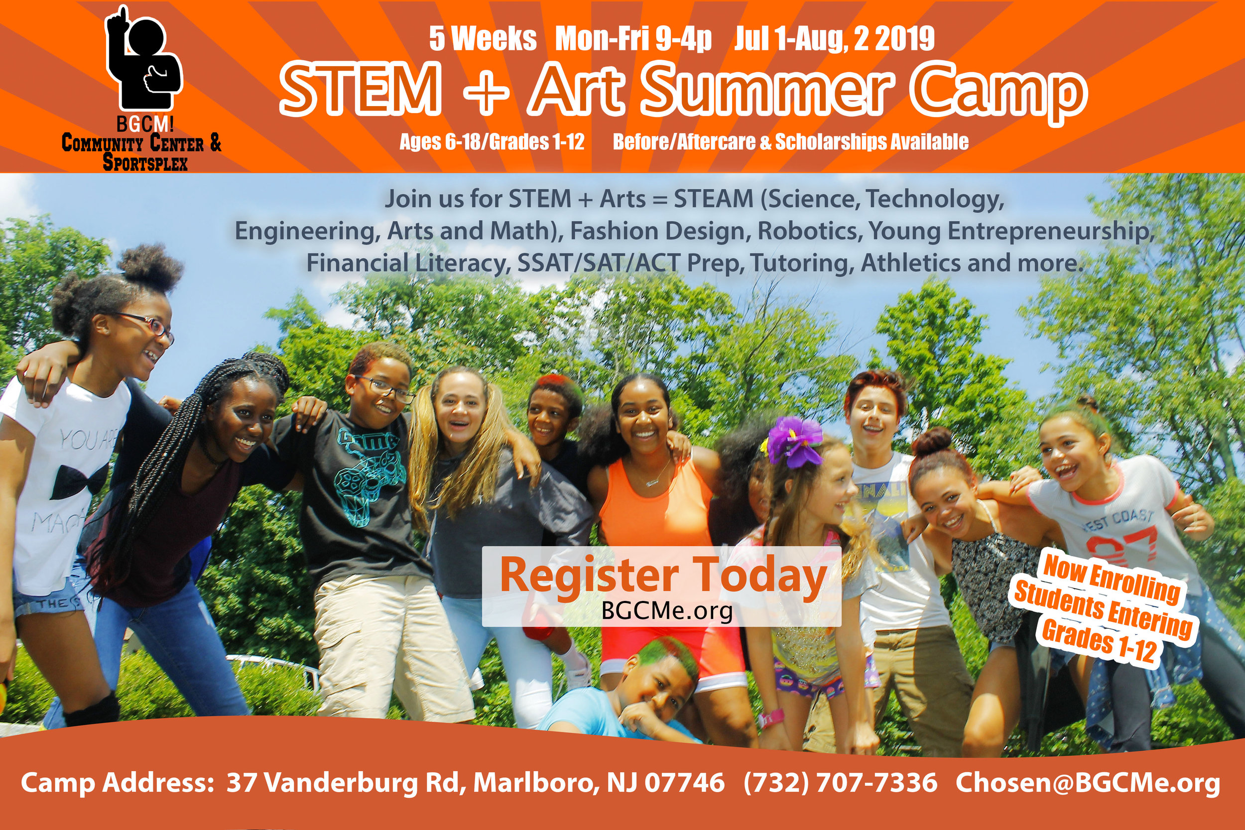 STEM + Arts Summer Camp Flyer