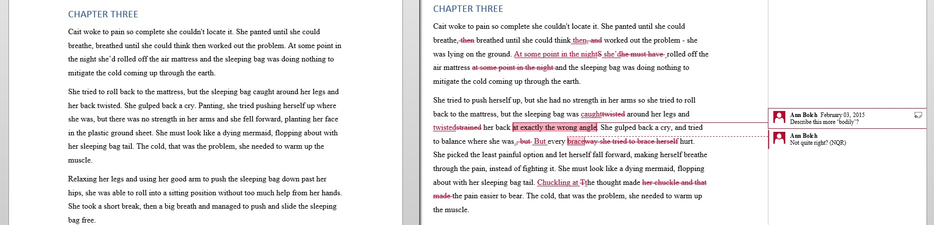Click to enlarge: Excerpt chapter 3 from  As Long As She Lives  by Darcy Conroy