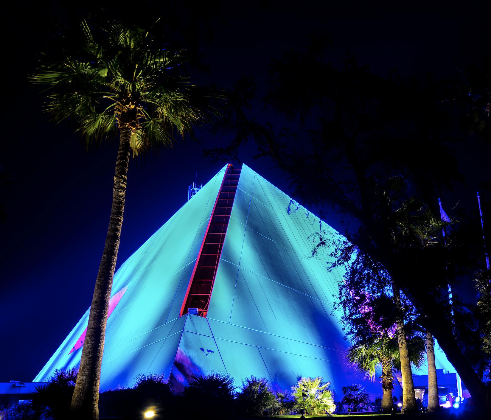 Desert Temple Nights   Light on Sheraton